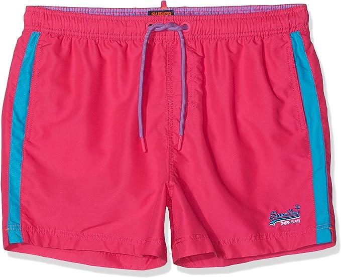 New Mens Superdry Beach Volley Swim Shorts Sunblast Pink