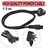 Storite Power Cable Cord 3 Pin Laptop adapter Charger (1.5 Meter) - Black