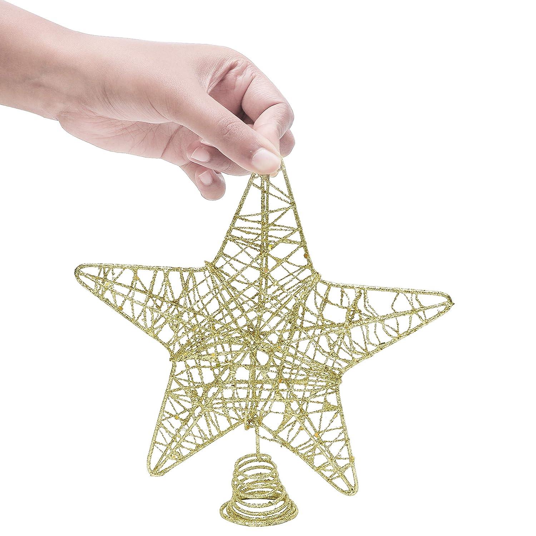 BELLE VOUS Decoracion Arbol Navidad - Adornos Árbol Navidad Coronar Arbol - 3