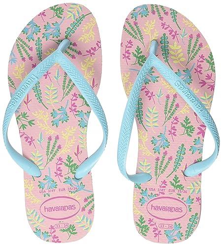 2a1a2d2f5ac74 Havaianas Women s Slim Romance Flip Flops  Amazon.co.uk  Shoes   Bags