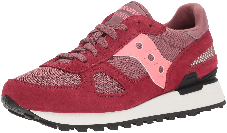 Saucony Originals Women's Shadow Original Running Shoe B072QFHCWB 7 B(M) US|Maroon/Pink