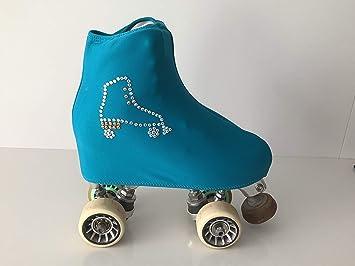 Fundas Cubre Patines ARTICO (Verde/Azul) decoración Patin Cristales: Amazon.es: Deportes y aire libre