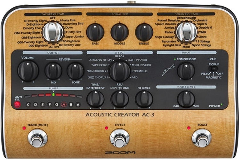 Zoom AC-3/IF Pedal estéreo para guitarra acústica
