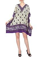 Women's Kaftan Tunic Kimono Dress Summer Evening Plus Size Beach Cover Up 10 -24