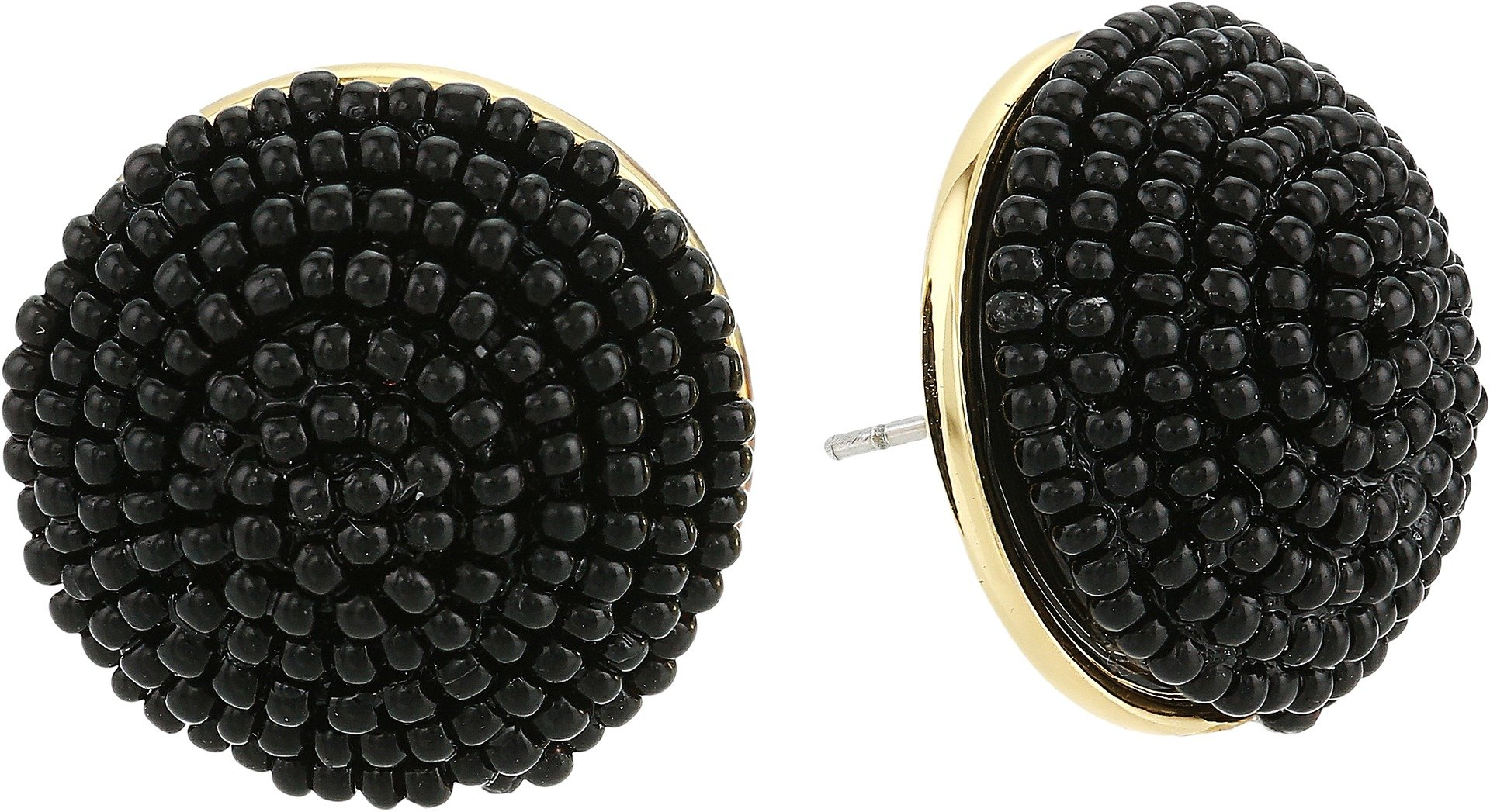 Kate Spade New York Women's The Bead Goes On Button Studs Earrings Black One Size