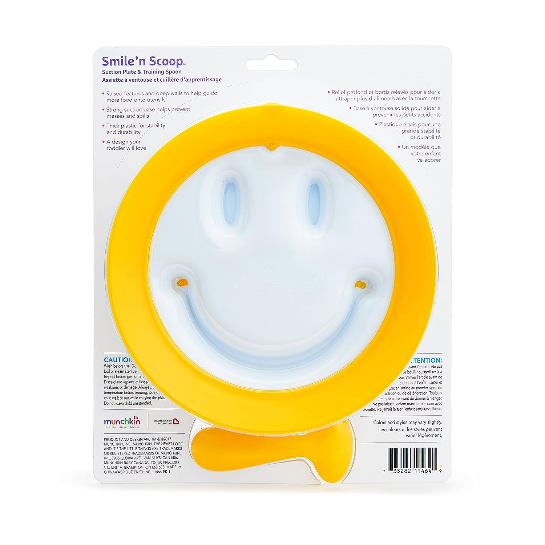 blau und L/öffelset Munchkin Smile n Scoop Kinderteller