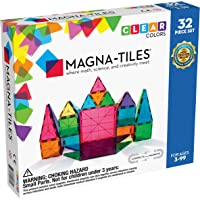 Magna-Tiles 32-Piece Clear Colors Set