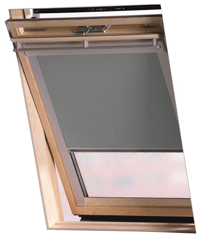 Jaloutec Dachfenster Rollos, Farbe grau, Verdunkelung in 10 Grössen, für Velux - Dachfenster Serie GGL GGU und GPL (GGU MK04)