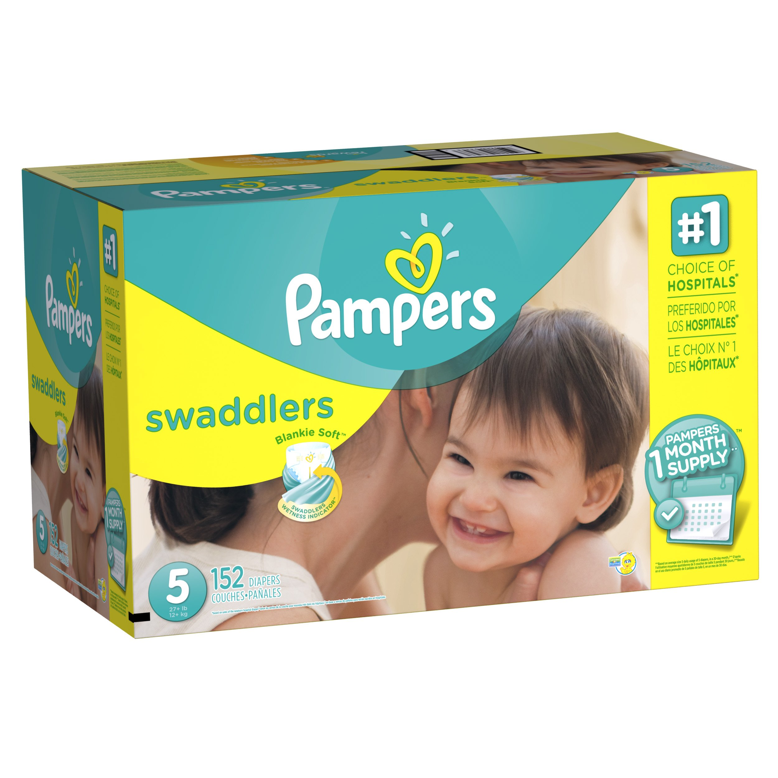 Pampers Swadlers Size 5 by Pampers
