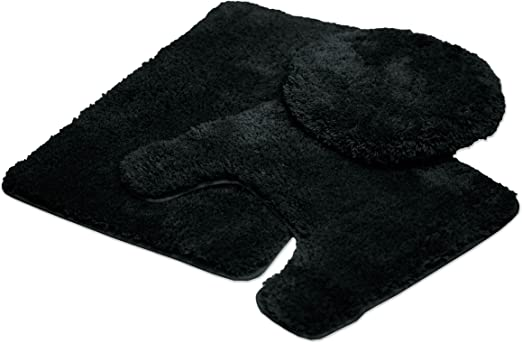 Luxury Home Fashion 3-Piece Super Plush Non-Slip Bath Mat Rug Set