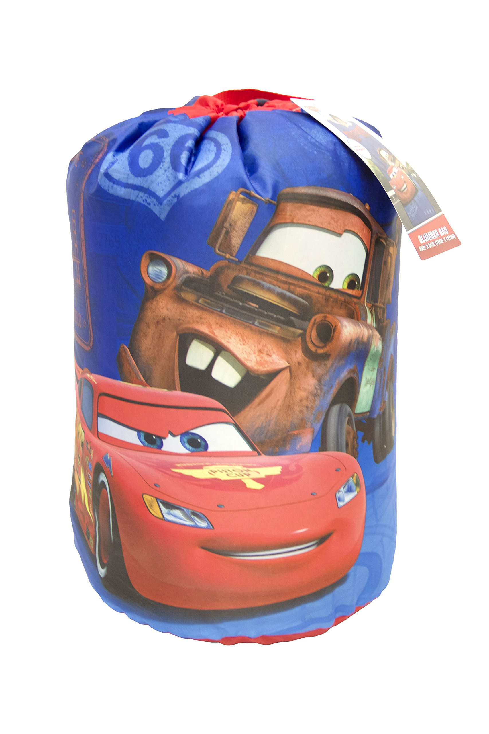 Disney/Pixar Cars Rule The Road McQueen & Mater Blue 30'' x 54'' Slumber Bag, Matching Carry Bag Included (Official Disney/Pixar Product) by Disney (Image #2)