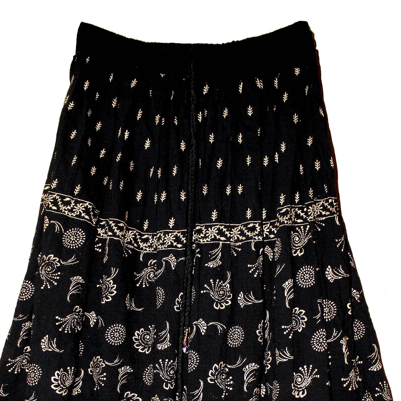 Fashion of India FOI Rayon Hippy Skirt Retro Kjol Rock Boho ...
