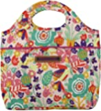 Lily Bloom Insulated Cinch Top Lunch Cooler/Tote (Tulips and Tweets)