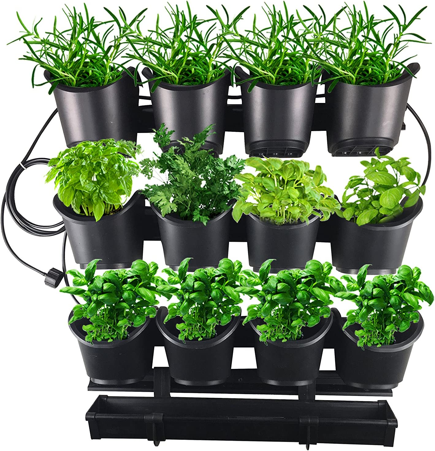 Watex Urban Farming Grow-Your-Own Herb & Flower Starter Kit with Micro Irrigation System