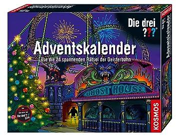 Weihnachtskalender 2019 Für Kinder.Kosmos 634162 Die Drei Adventskalender 2019 Löse 24 Spannende