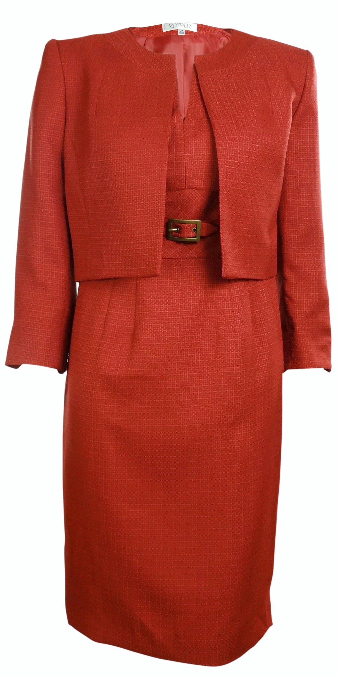 Kasper Women's Business Suit Dress Set (4, Dark Rust) by Kasper