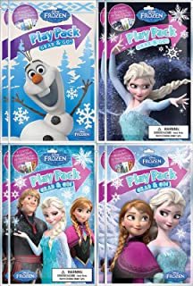 BashBox Disney Frozen Play Pack Grab And Go Childrens Coloring Activity Party Favor Bundle