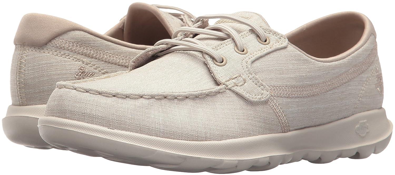 Skechers Women's Go Walk Lite-15433 Boat Shoe B072ND1LP5 5 B(M) US|Taupe