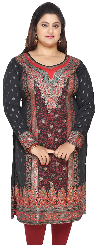 71124d6e882 Maple Clothing Women's Plus Size Dress Indian Tunics Kurti Long Top ...