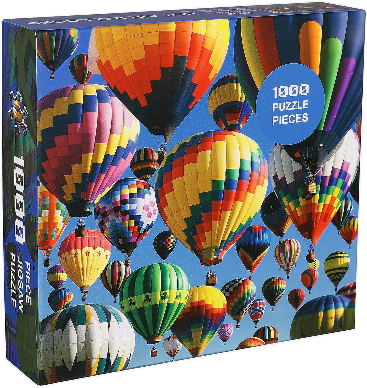 70x50cm Cangroo Jigsaw Puzzle 1000 Piezas Puzzles para Adultos Globo Aerost/ático Marvel Puzzle Paisaje De Globos Viaje En Globo Aerost/ático Puzzle Classic Rompecabezas Regalo