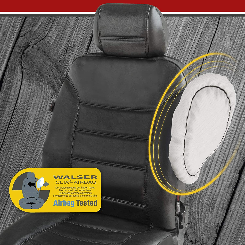 WALSER Autositzbezug Billy aus echtem Leder grau ZIPP-IT Art.Nr. 19637