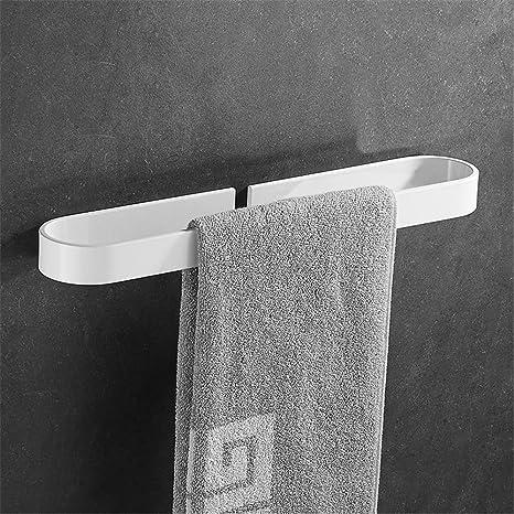 Badezimmer Lackierten Weissen Handtuchhalter Einpoligen Badezimmer Hangenden Handtuchhalter Punch Free Handtuch Hangen Rack Hangestange 40cm