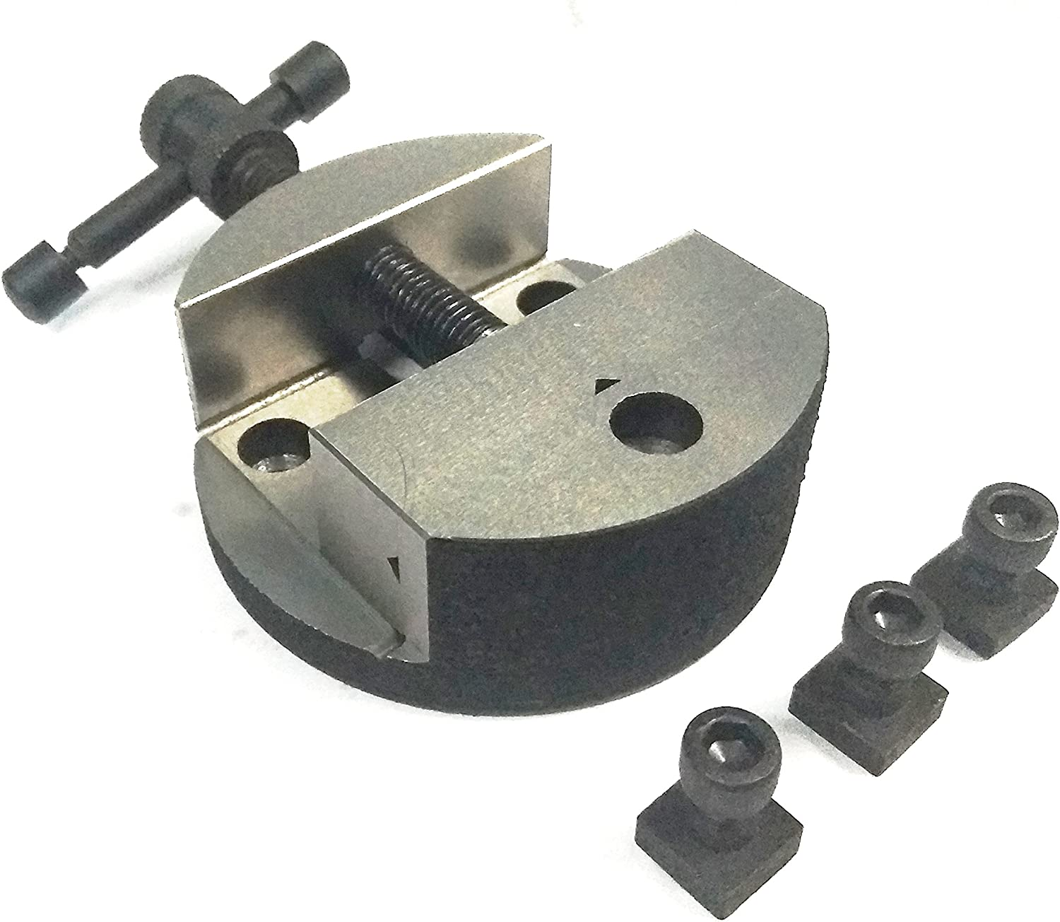 """and 4/"""" 80 mm Caste Iron Round Vice for 3/"""" 75 mm 100 mm Rotary Table"""