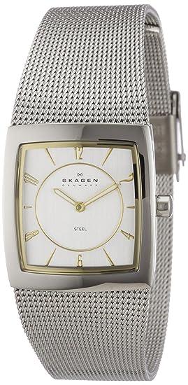 Skagen Slimline 563XSGSC - Reloj de mujer de cuarzo, correa de acero inoxidable color plata