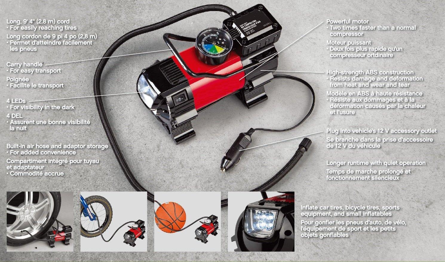 Air Compressor Car: HEAVY DUTY Portable Air Compressor For Car Tire Pump