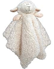 Stephan Baby Plush Cuddle Bud Security Blankie, Cream Lamb