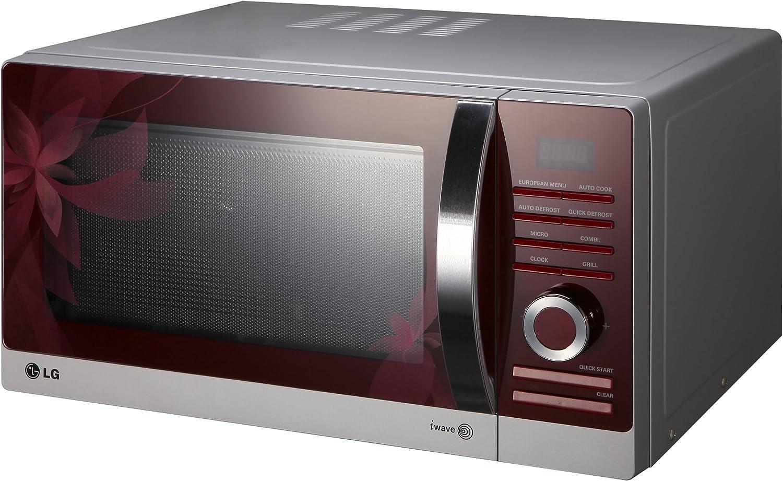 LG MH6883ATF Encimera 28L 900W Gris, Rojo - Microondas (Encimera ...