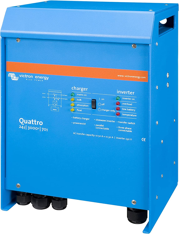 Victron Energy - Inversores/cargadores 2400W 24V 3000VA Victron Energy Quattro 24/3000/70-50/50 - QUA243020010