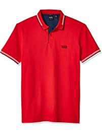 d5b71e983 Hugo Boss Mens Standard Paul Short Sleeve Slim Fit Modern Polo