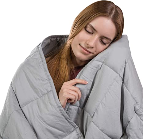 """Details about  /Cohome Weighted Blanket With Heavy Beads For Adults 48X72/"""" 15 LBS"""