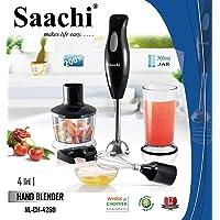 Saachi Multi-purpose 4 In 1 Hand Blender With Jar, Black - 4260