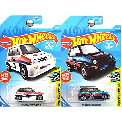 Hot Wheels 2018 Hw Speed Graphics 10/10 - 85 Honda City Turbo II
