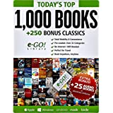 e-Go! Portable Library Today's Top 1,000 eBooks + 250 Bonus Classics (green)