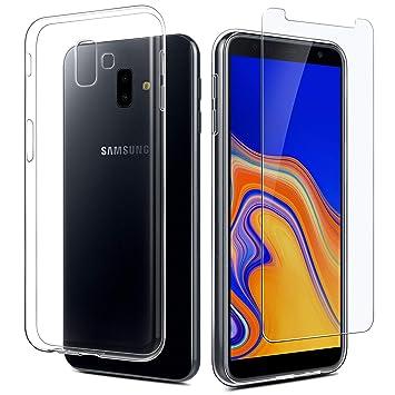 Easyacc Coque Verre Trempe Pour Samsung Galaxy J6 Plus Etui