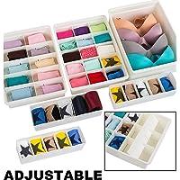 Klare Designs Verstellbare Schublade Trennwände Sleek & Anpassbare in stabilem Kunststoff, für Ihr Baby Kleidung, Craft Supplies, Büro Schublade, Küche, Unterwäsche & Badezimmer
