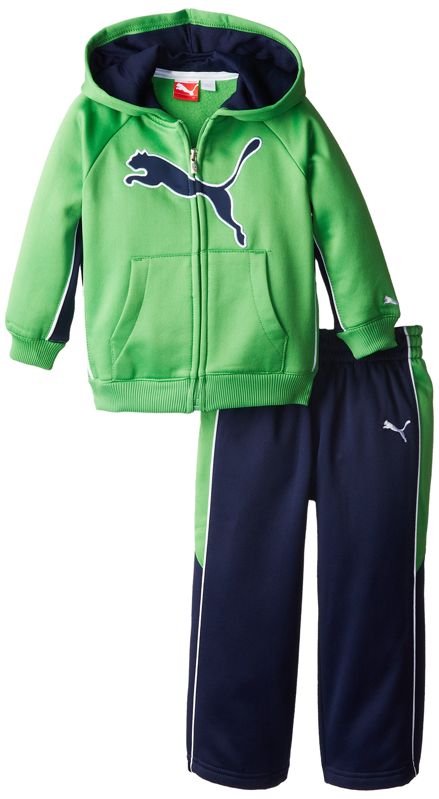 PUMA Little Boys' Cat Fleece Set-Toddler, Classic Green, 2T by PUMA