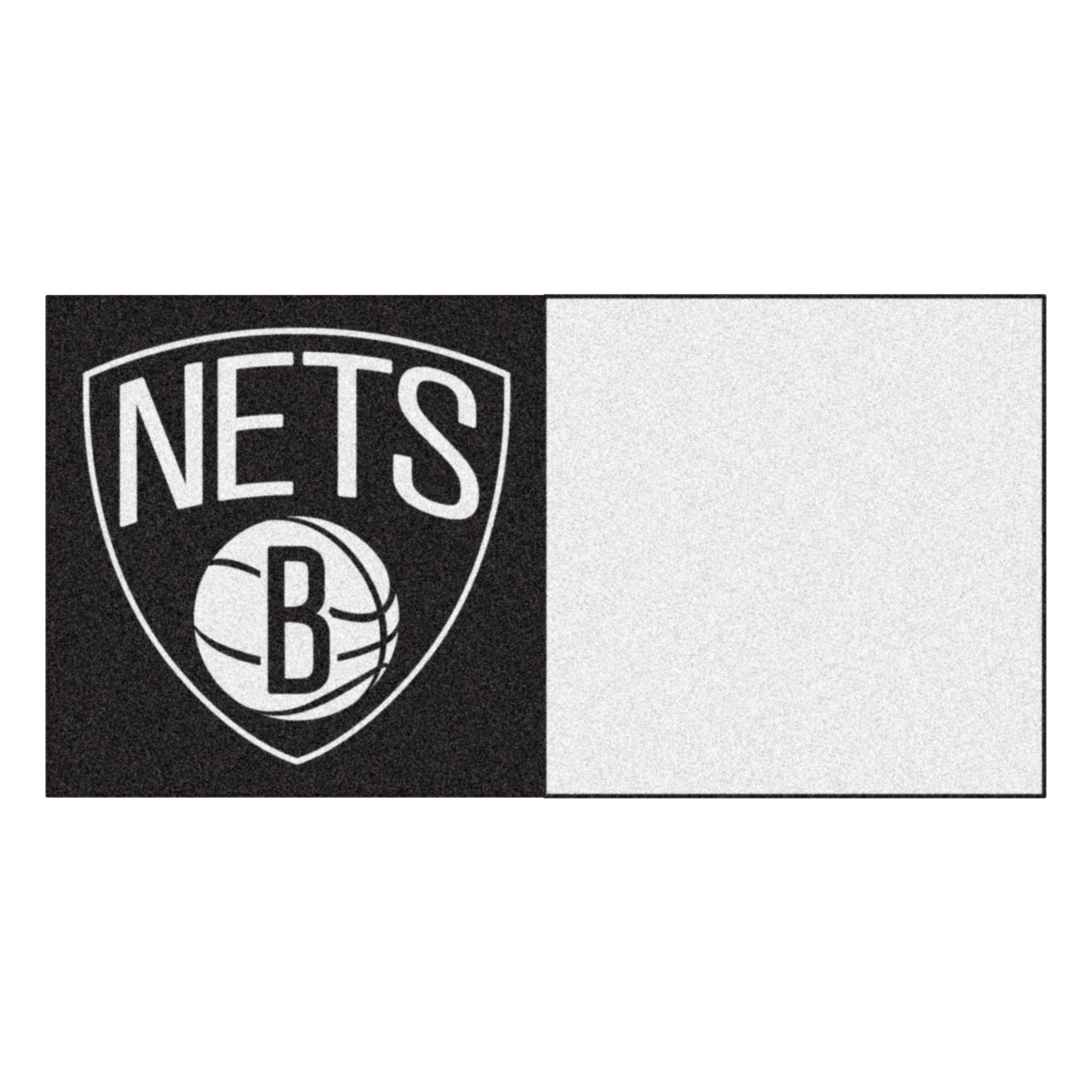 FANMATS NBA Brooklyn Nets Nylon Face Team Carpet Tiles