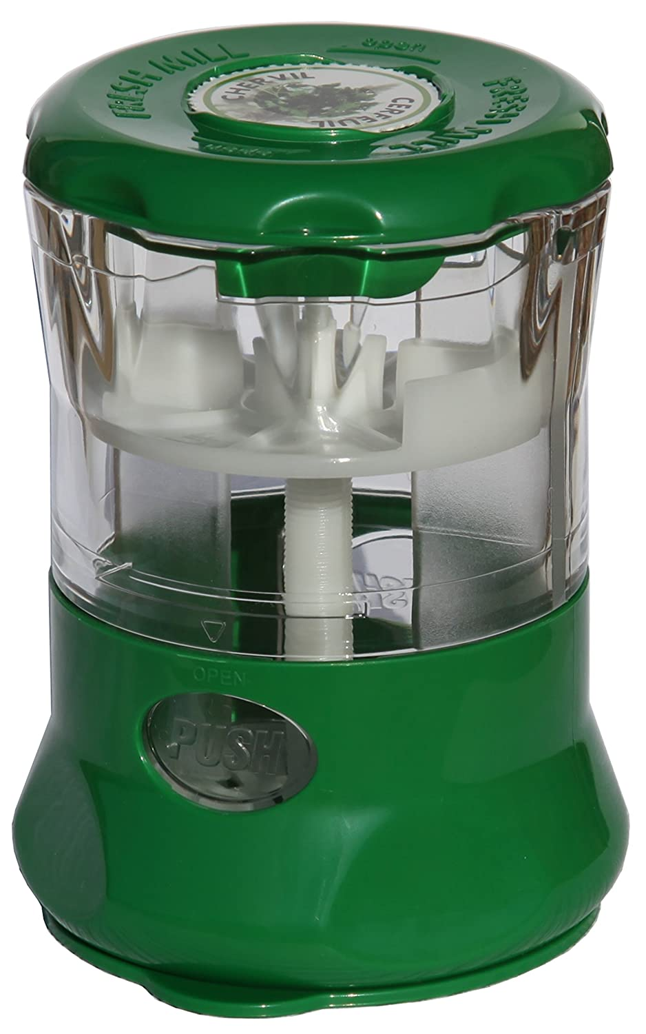 Fresh Mill Herb Storage Canister and Mill, Green HIC Brands that Cook 210