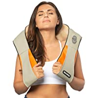 Belmint Shiatsu Neck Shoulder Massager - Heated Kneading Shoulder Massager to Relief and Relax Muscle Back Pian | for Home, Office and Car (Beige)