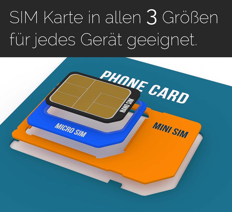 Tarjeta SIM para Reino Unido, Inglaterra, Escocia, Irlanda del Norte (Tel/SMS/datos) – Nano SIM – Reino Unido Prepaid tarjeta SIM: Amazon.es: Electrónica