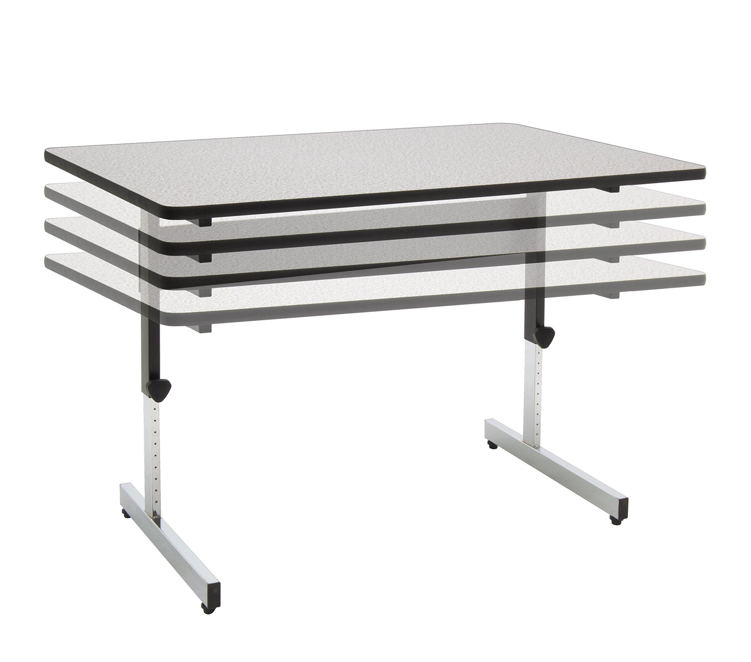 Calico Designs 410382.0 Adapta Desk, 48'', Black/Spatter Gray by Calico Designs (Image #3)