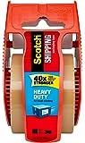 "Scotch Heavy Duty Shipping Packaging Tape, 1"" Core, 1.88"" x 22.2 yd, Tan (143)"