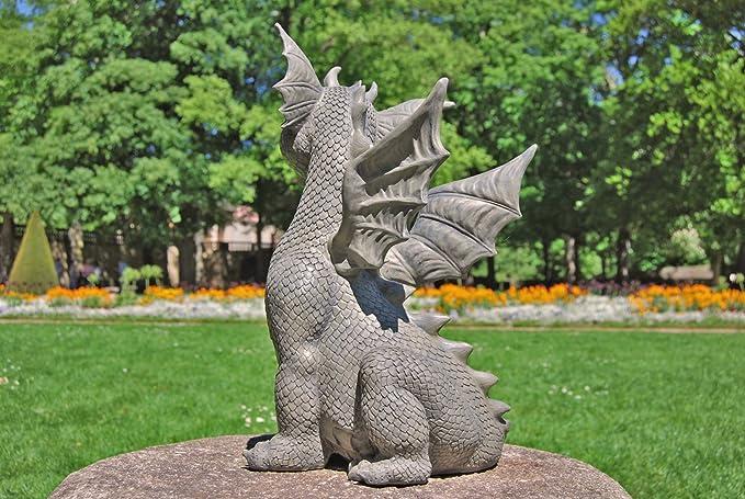 Gro/ße Magical Fairy Outdoor Garden Ornament Stone Effekt Figur Angel Statue