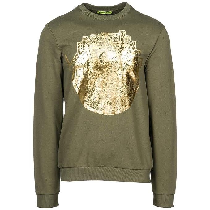 Versace Jeans Sudadera de Hombre Nuevo Verde EU M (UK M) B7GSB7FH: Amazon.es: Ropa y accesorios