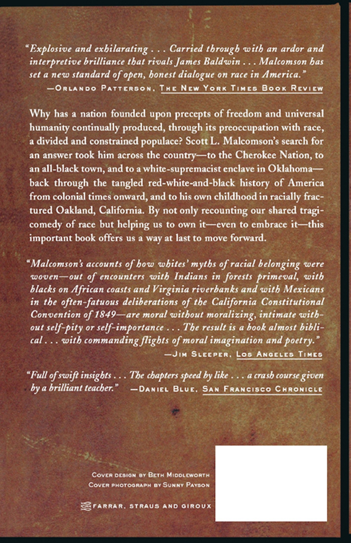 One Drop of Blood: The American Misadventure of Race: Scott Malcomson:  9780374527945: Amazon.com: Books
