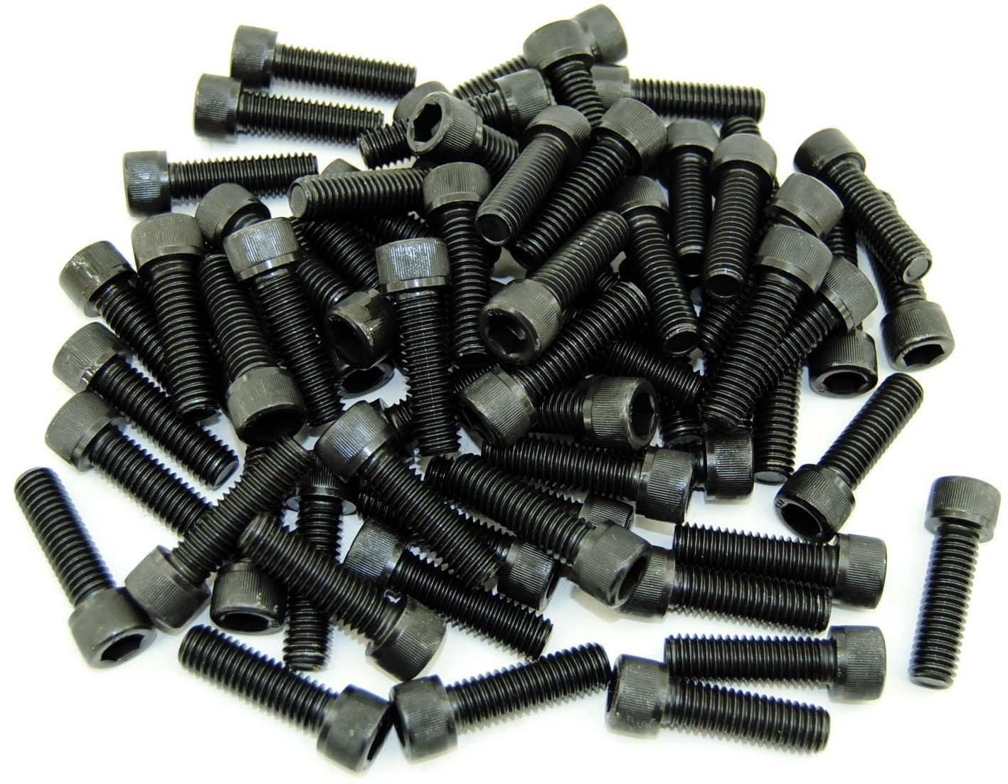 Socket Head 7//16-14 x 1-1//2 Cap Screw SHCS Bolt Black 70